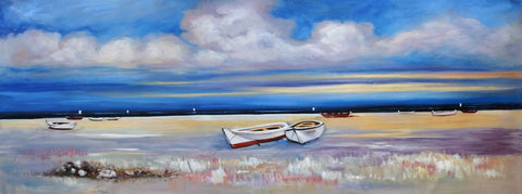 Seascape Beach Scene SB01 Oil Painting Canvas Art