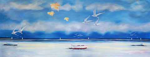 Seascape Beach Scene SB03 Oil Painting Canvas Art