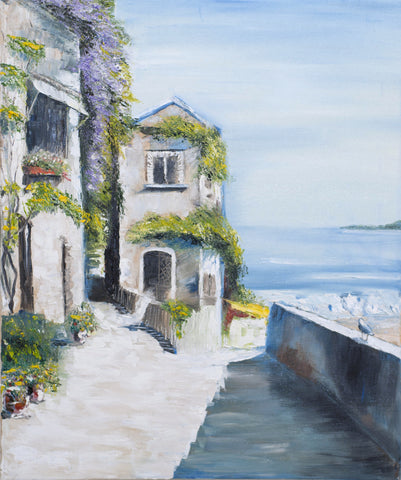 Coastal Town (Limited Edition) Oil Painting Canvas Art