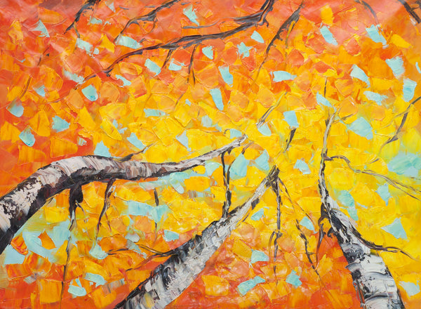 GB-Autumn-Leaves Oil Painting Canvas Art