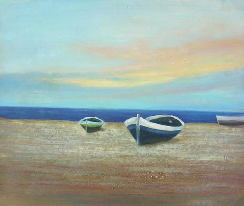 Boat HS3013 Oil Painting Canvas Art