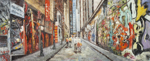 Hosier Lane (Limited Edition) Oil Painting Canvas Art