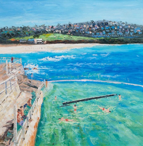 Sydney Bronte Beach (Limited Edition) Oil Painting Canvas Art
