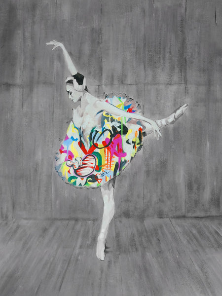 Ballerina Graffiti Art