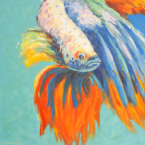 Alpha Betta Oil Painting Canvas Art