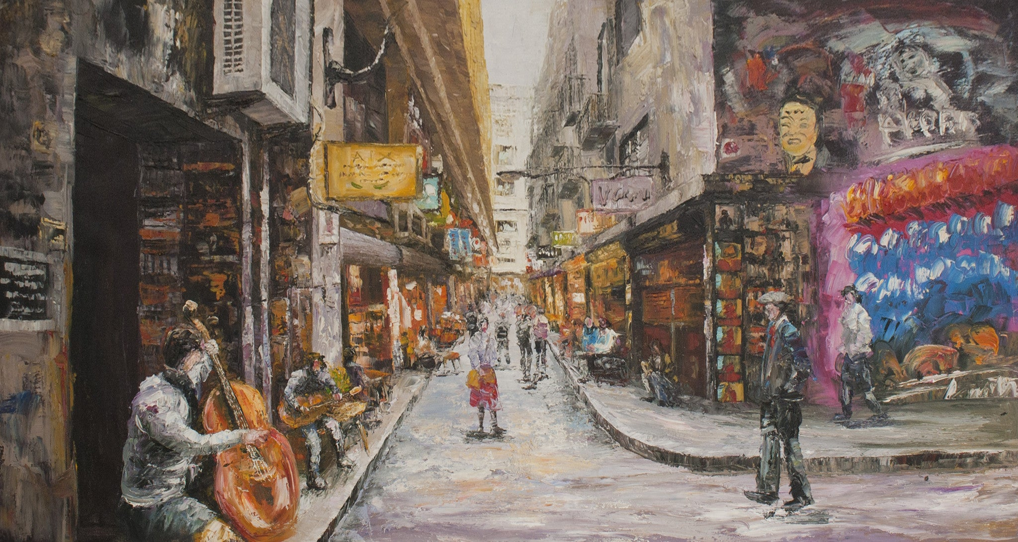 Melbourne laneway oil painting creative strokes for Artworks for sale online