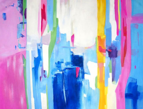 Neon Abstract A01 Oil Painting Canvas Art
