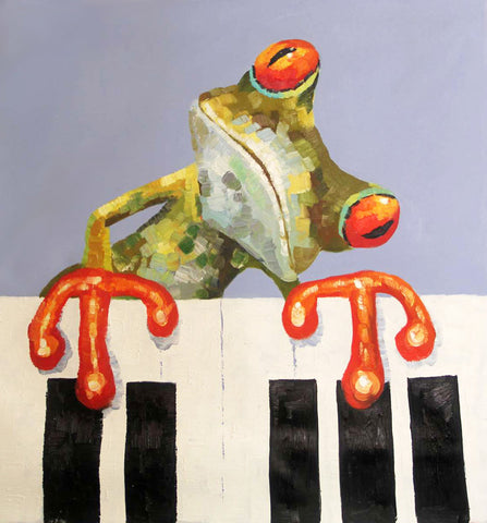 Pop-Frog Oil Painting Canvas Art