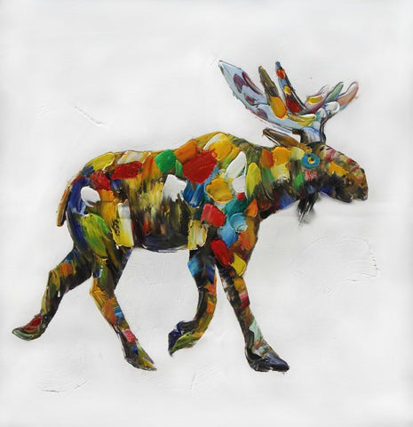 Pop-Moose Oil Painting Canvas Art