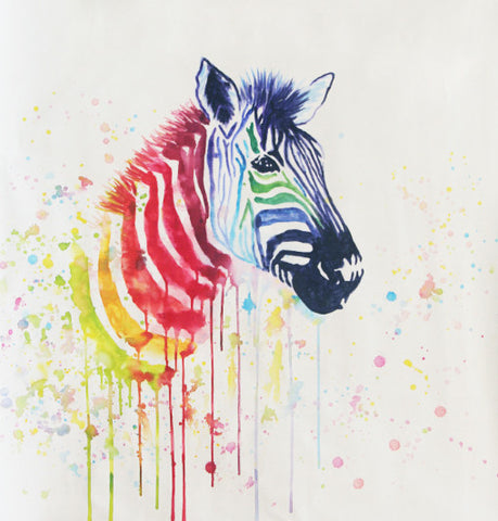 Pop-Zebra Oil Painting Canvas Art