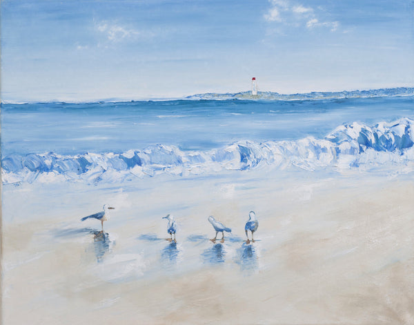 Seaside with sea gulls (Limited Edition)