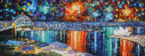 Sydney Opera House in Colour Explosion II (Limited Edition) Oil Painting Canvas Art