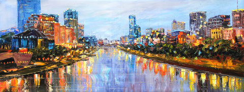 Yarra River Melbourne City (Limited Edition) Oil Painting Canvas Art