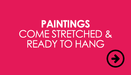 Paintings come stretched and ready to hang