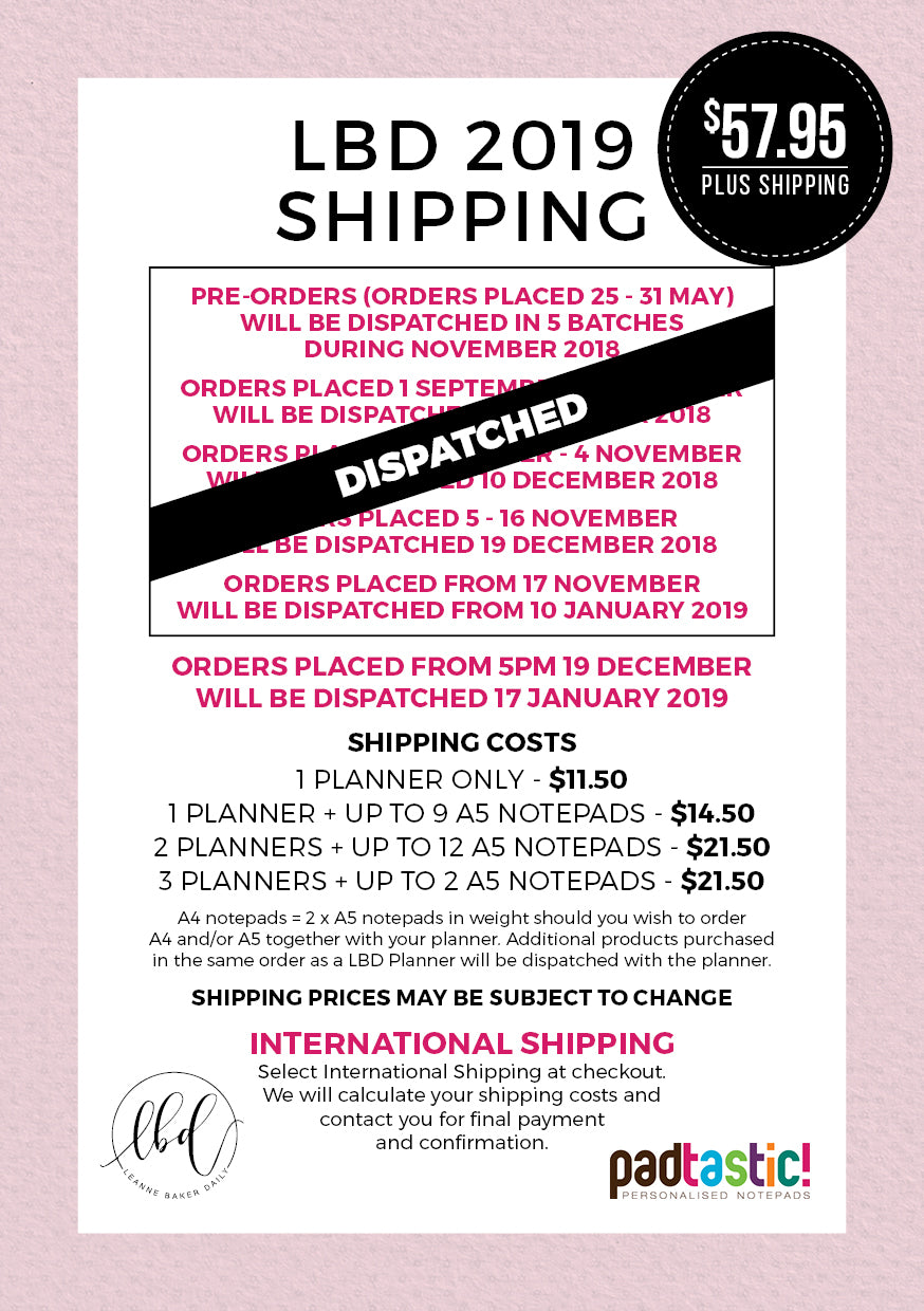 LBD Shipping Information