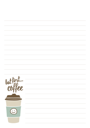 Tea & Coffee Mixed Design Notepad [Lined]
