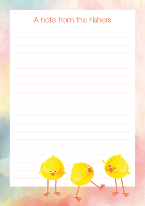 Cheeky Chicks Watercolour styled Easter A5 Personalised Notepad