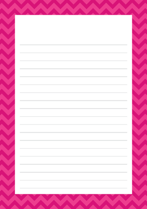 Chevron Mixed Design Notepad [Lined]