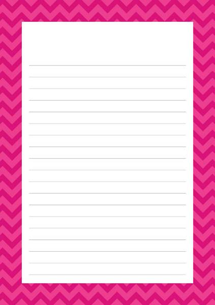 Chevron Mixed Design Notepad
