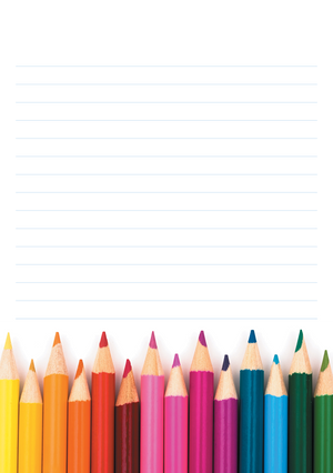 Bold & Bright Mixed Design Notepad [Lined]