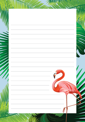 Birds Mixed Design Notepad [Lined]