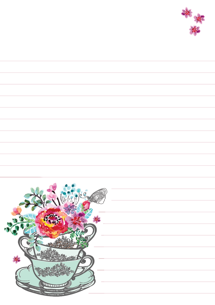 Flowers Mixed Design Notepad