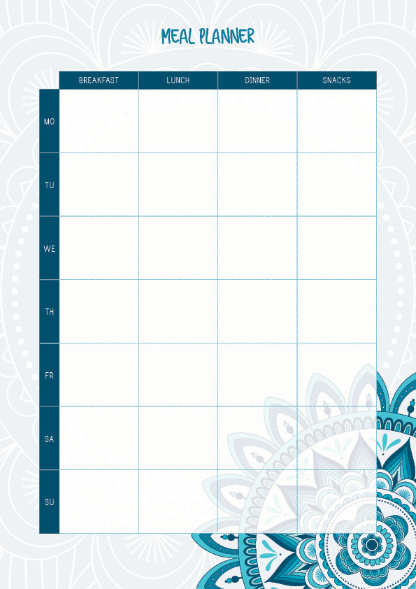 LBD Aspire Meal Planner Notepad - A4 - All Meals