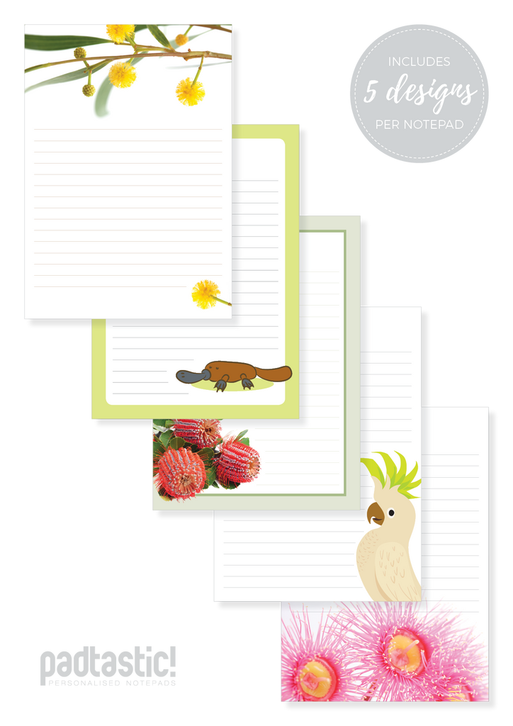 Australiana Mixed Design Notepad