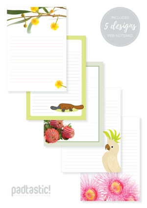 Australiana Mixed Design Notepad [Lined]