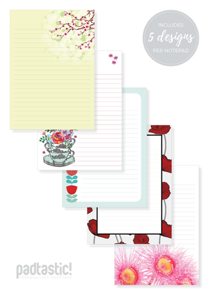 Flowers Mixed Design Notepad [Lined]