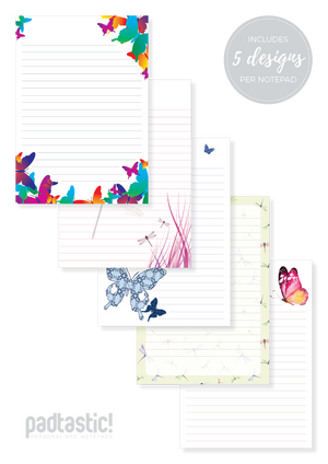 Insect Mixed Design Notepad [Lined]