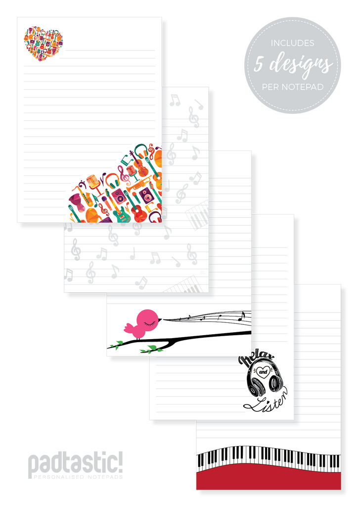 Music Mixed Design Notepad