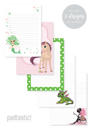 Mythical Mixed Design Notepad [Lined]
