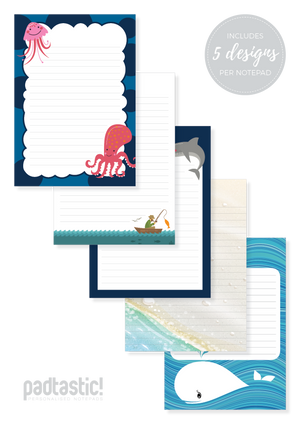 Under the Sea Mixed Design Notepad [Lined]