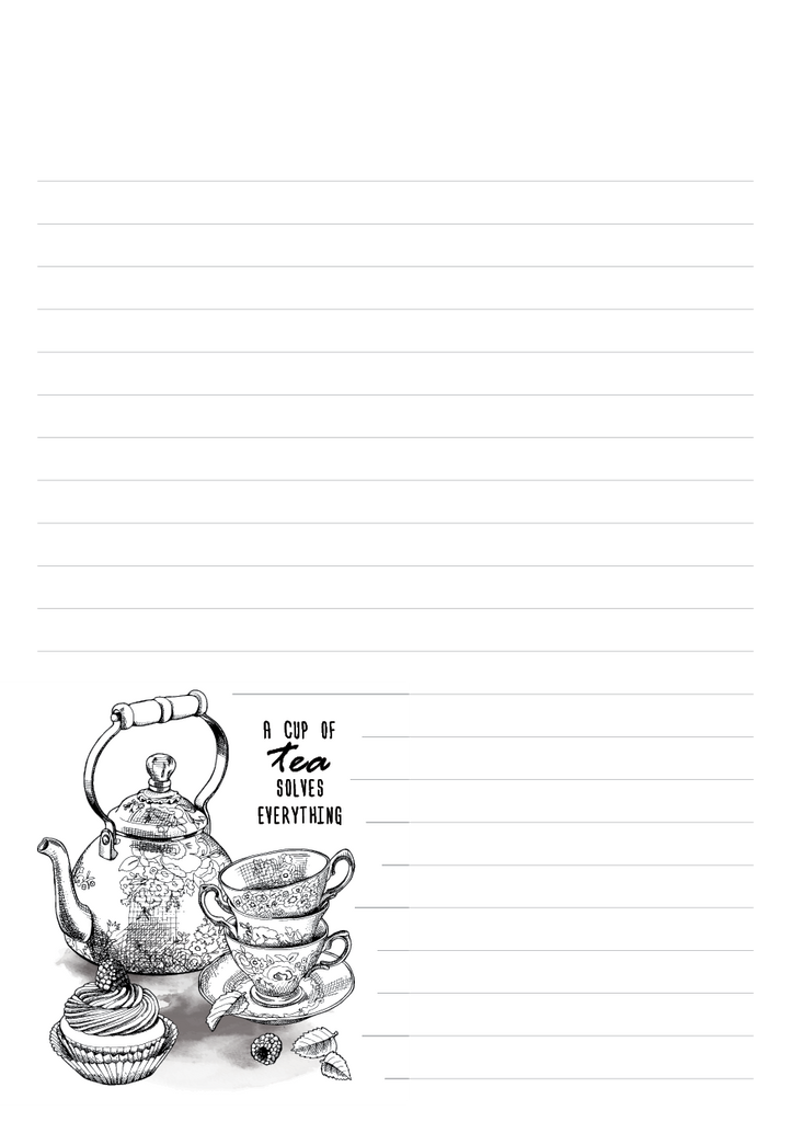 Tea & Coffee Mixed Design Notepad
