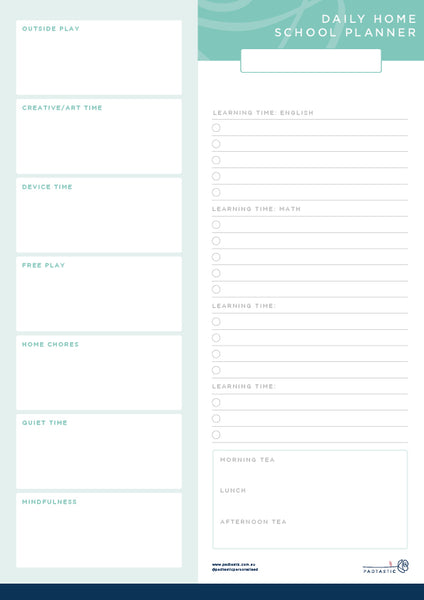 Daily Home School Planner