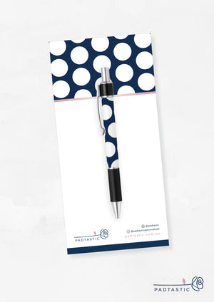 Navy & White Spots_Pen