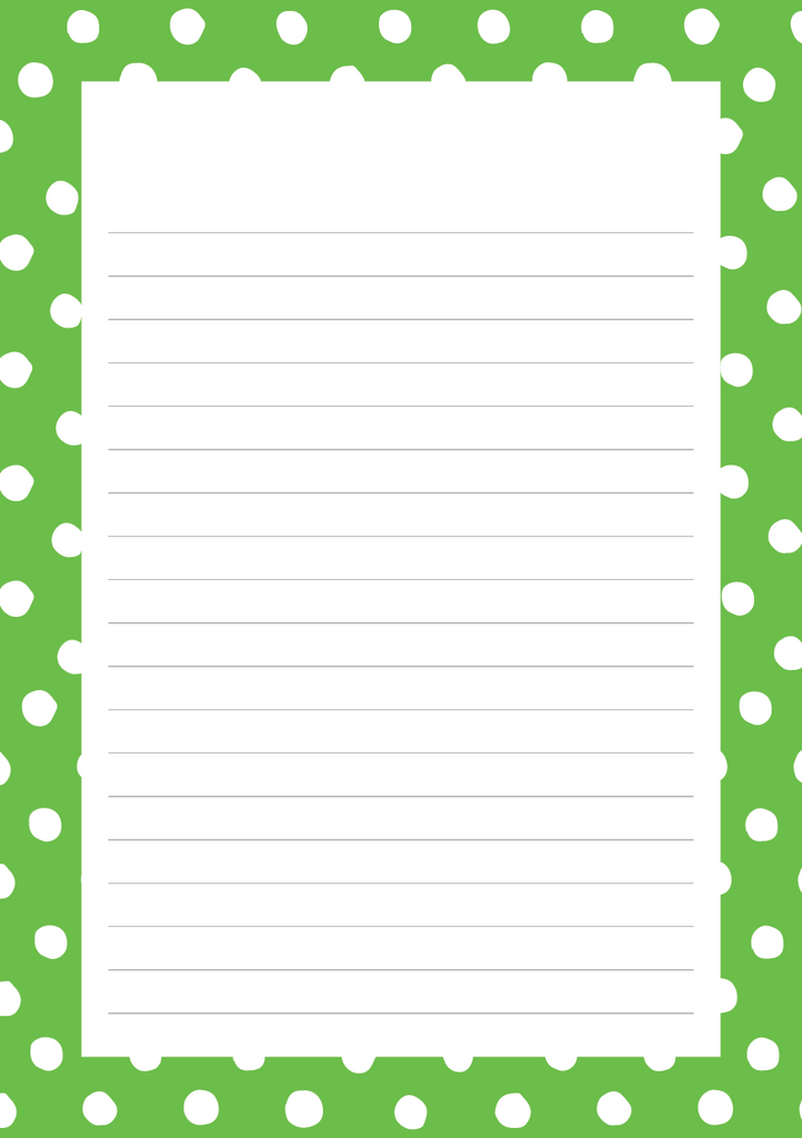 Polka Dots Mixed Design Notepad