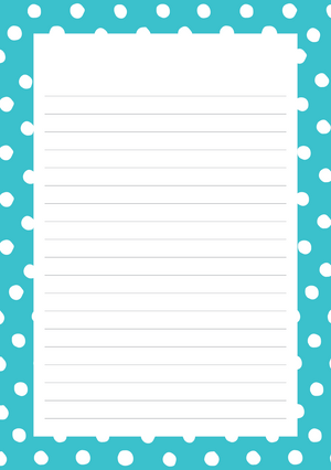 Polka Dots Mixed Design Notepad [Lined]