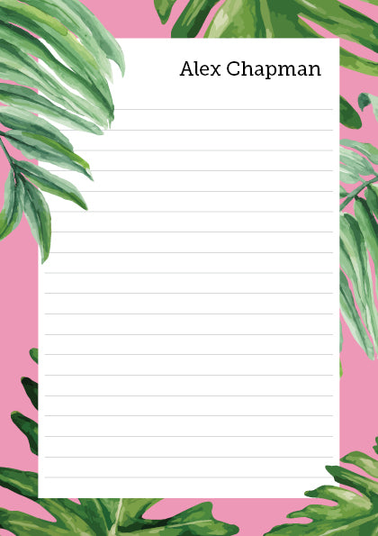 The Goal Keeper Notepad - Pink Tropical - A5