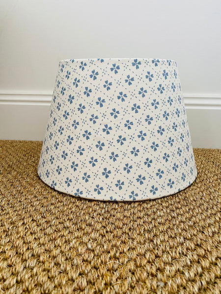 Anna Spiro Textiles Paniola Inverted Pale Blue Fabric Lampshade