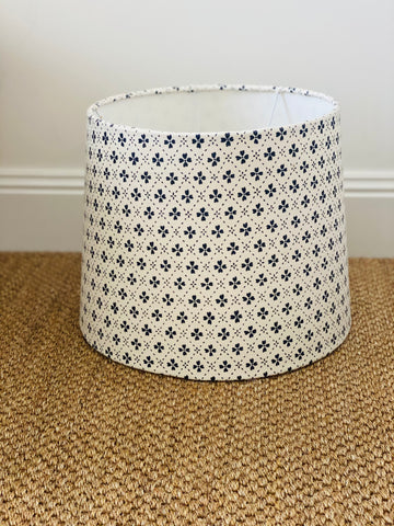 Anna Spiro Textiles Paniola Inverted Navy Blue Lampshade