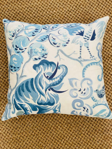 Clarence House Congo Blues Cushion