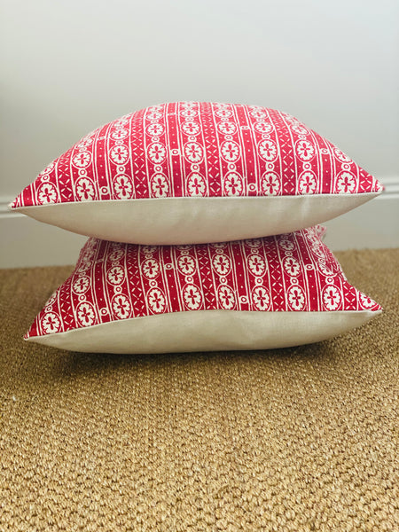 Anna Spiro Textiles Kahuna Red Cushion