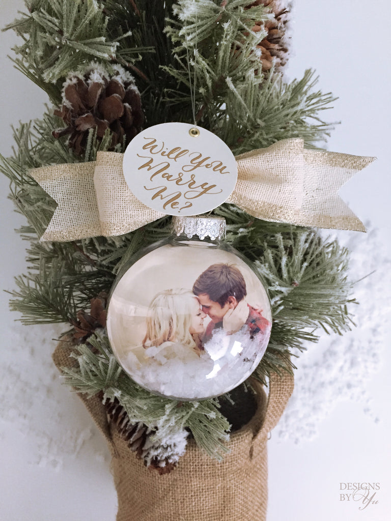 Will You Marry Me Photo Ornament