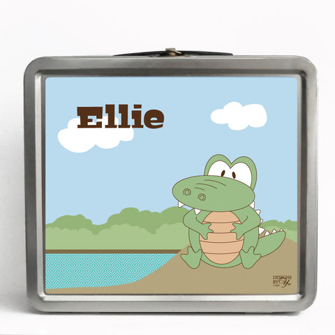 Personalized Tin Lunch Box - Alligator