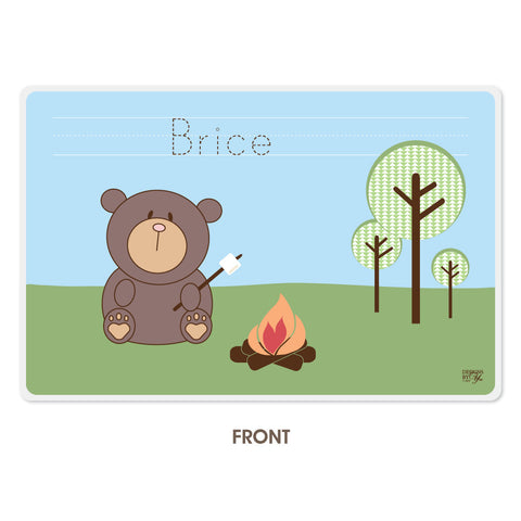 Personalized Kids Placemat - Bear