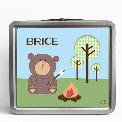 Personalized Tin Lunch Box - Bear