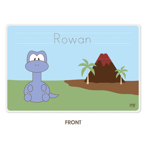Personalized Kids Placemat - Brontosaurus