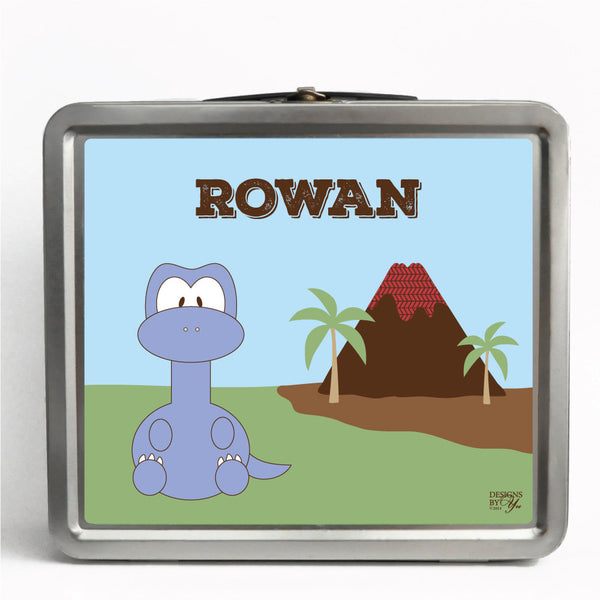 Personalized Tin Lunch Box - Brontosaurus